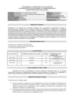 UNIVERSIDAD AUTÓNOMA DE AGUASCALIENTES CENTRO DE CIENCIAS ECONOMICAS Y ADMINISTRATIVAS