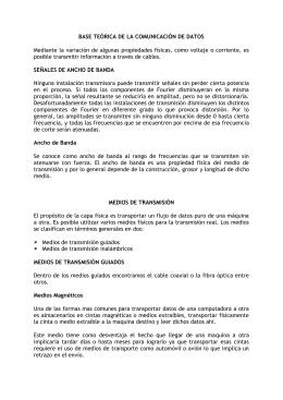 BASE TEÓRICA DE LA COMUNICACIÓN DE DATOS