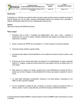 PN-GBVE-PG-01-IN-03 Instructivo para Colecta de