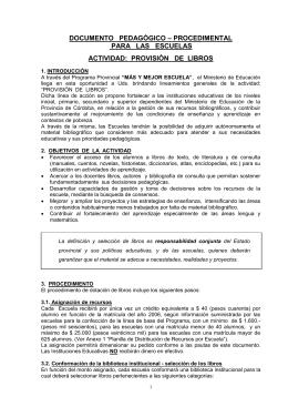 documento pedagógico – procedimental