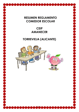 RESUMEN REGLAMENTO - Colegio Amanecer Torrevieja