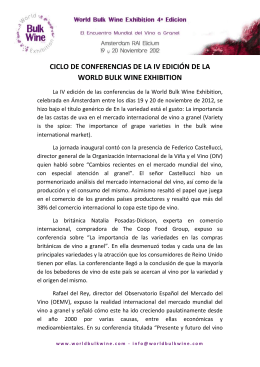 ciclo de conferencias de la iv edición de la world bulk wine
