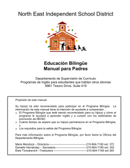 Educación Bilingüe - North East Independent School District