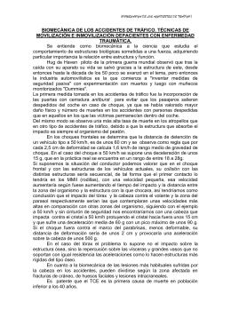 BIOMECÁNICA DE LOS ACCIDENTES DE TRÁFICO