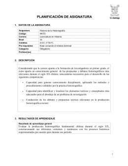PLANIFICACIÓN DE ASIGNATURA  1.  DATOS DE LA ASIGNATURA