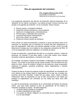 Plan de capacitación del voluntario