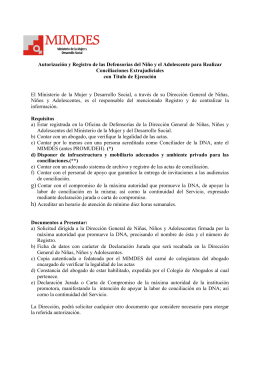Requisitos de Autorización y Registro de las Defensorías del Niño y