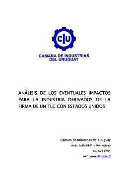 Análisis de los Eventuales Impactos para la Industria Derivados de