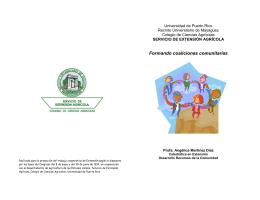 Formando coaliciones comunitarias - Uprm