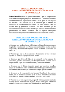 MANUAL DE DOCTRINA - Iglesia Centroamericana.