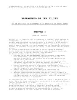 Ley 12245 Reglamentación