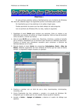 Prácticas con Windows 98