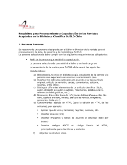 requisitos para procesamiento y