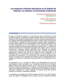 Los espacios virtuales educativos en el ámbito de Internet: un