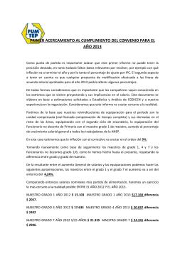 PRIMER ACERCAMIENTO AL CUMPLIMIENTO DEL CONVENIO