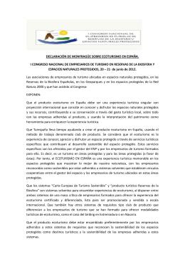 Declaración de Monfragüe sobre Ecoturismo en España