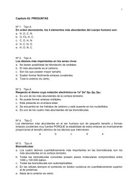 1 Nº 1.  Tipo A a.  H, O, C, N.