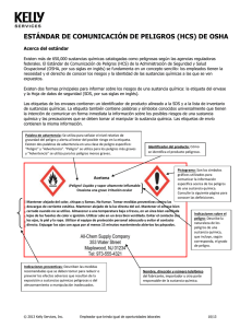 OSHA Hazard Communication Standard - Spanish