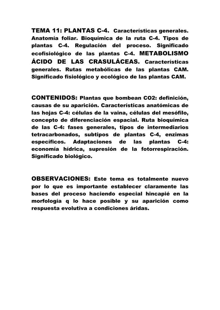TEMA 11: PLANTAS C-4.