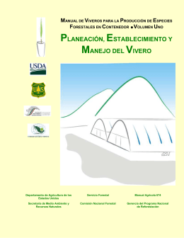 MANUAL DE VIVERO PARA LA PRODUCCION DE ESPECIES