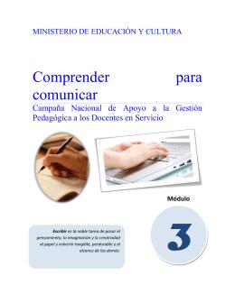 Modulo 3 Comprender para comunicar
