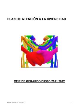 PLAN DE ATENCIÓN A LA DIVERSIDAD CEIP DE GERARDO DIEGO 2011/2012