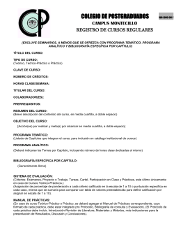 Registro de Cursos regulares