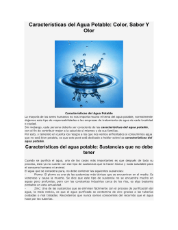 Caracter¡sticas del Agua Potable