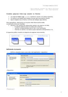 Utilizar la herramienta Palette para diseñar las páginas (html/jsp)