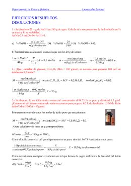Disoluciones - Departamento de Física y Química