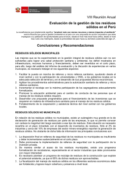 Conclusiones - Red de Instituciones Especializadas en