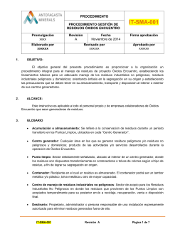 "PROCEDIMIENTO GENERAL ""GESTION DE LA DOCUMENTACIÓN"""