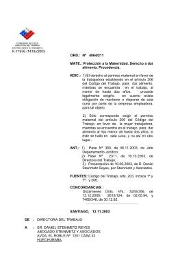 ORD. Nº 4864/211 - Dirección del Trabajo
