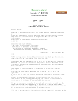 Decreto N° 402/012 Documento original