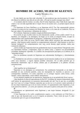 HOMBRE DE ACERO, MUJER DE KLEENEX