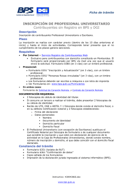 Inscripción de Profesional Universitario V06