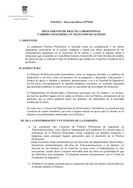 REGLAMENTO DE PRACTICA PROFESIONAL - UNRC