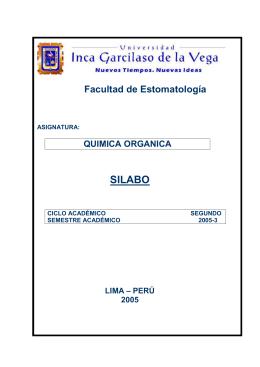 SILABO  Facultad de Estomatología QUIMICA ORGANICA