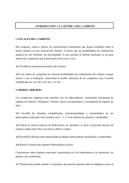 INTRODUCCIÓN A LA QUÍMICA DEL CARBONO 1. ENLACES DEL CARBONO.