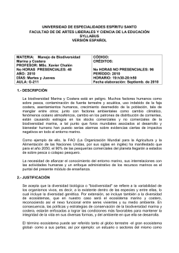 UNIVERSIDAD DE ESPECIALIDADES ESPÍRITU SANTO SYLLABUS