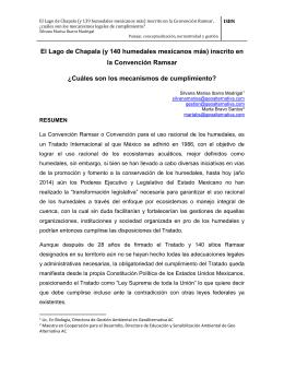 El Lago de Chapala inscrito en la Convención