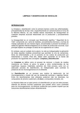 LIMPIEZA Y DESINFECCION DE VEHICULOS