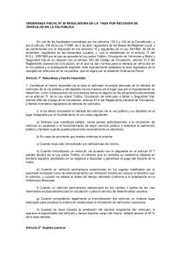 ordenanza fiscal nº 26 reguladora de la tasa por recogida de