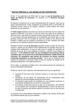 Contrato de Compra-Venta entre un profesional y un particular