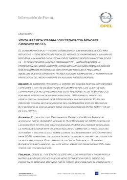 Ventajas Fiscales para los Coches con Menores Emisiones de CO2