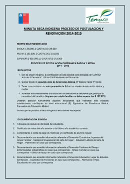 requisitos beca indígena