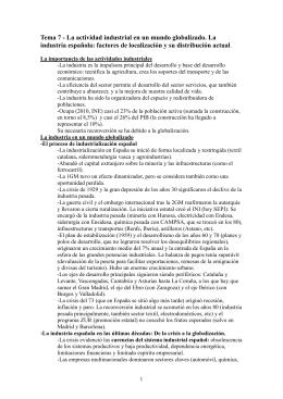 Tema 7: Actividad industrial en España