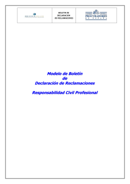 Modelo de Boletín reclamaciones Colegiados