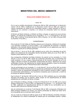 Resolución 068 de 2001