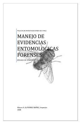 MANEJO DE EVIDENCIAS ENTOMOLOGICAS